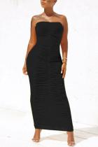 Black Sexy Fashion Tight Tube Top Dress