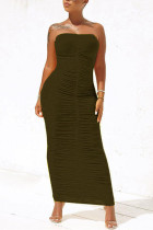 InkGreen Sexy Fashion Tight Tube Top Dress