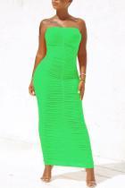 Light Green Sexy Fashion Tight Tube Top Dress