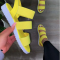 Yellow Casual Street Hollowed Out Split Joint Opend Comfortable Out Door Shoes