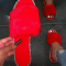 Red Casual Street Hollowed Out Split Joint Hot Drill Opend Comfortable Out Door Shoes