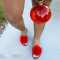 Rose Red Sexy Casual Hollowed Out Split Joint Opend Comfortable Out Door Shoes