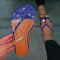 Blue Casual Street Split Joint Printing Opend Comfortable Out Door Shoes