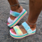 Colour Casual Street Hollowed Out Split Joint Opend Out Door Shoes