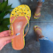 Yellow Casual Street Split Joint Printing Opend Comfortable Out Door Shoes