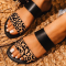 Black Casual Street Hollowed Out Split Joint Printing Opend Comfortable Out Door Shoes