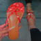 Red Casual Street Split Joint Printing Opend Comfortable Out Door Shoes