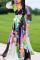 Black Fashion Sexy Printed Chiffon Dress