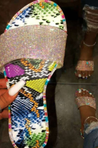 Colour Casual Street Split Joint Sequins Opend Out Door Shoes