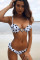 Stripe knitting Two Piece Suits Striped Dot Patchwork Sexy Tankinis Set