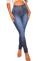 Deep Blue Casual Skinny Denim Jeans