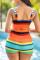Deep Blue Fashion Sexy Print Hollowed Out Backless Swimwears