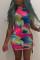 Pink Fashion Sexy Print Basic O Neck Sleeveless Dress
