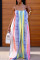 Blue Pink Sexy Casual Print Backless Spaghetti Strap Plus Size Jumpsuits