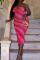 Red Sexy Print Pants Spaghetti Strap Pencil Skirt Plus Size Dresses