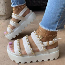 White Street Split Joint Opend Out Door Shoes