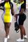 Grey Sexy Fashion Cap Sleeve Short Sleeves Turndown Collar Step Skirt skirt Patchwork Print chain