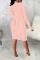 Rose Red Sexy Print Mesh Half A Turtleneck Pencil Skirt Dresses