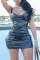 Black Fashion Sexy Solid Backless Spaghetti Strap Sleeveless Dress Dresses