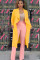 Yellow Notched backless Pure Long Sleeve