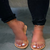 Nude Sexy Street Hollowed Out Split Joint Opend Out Door Shoes