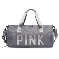 Grey Casual Sportswear Hot Drilling Split Joint Zipper Bags
