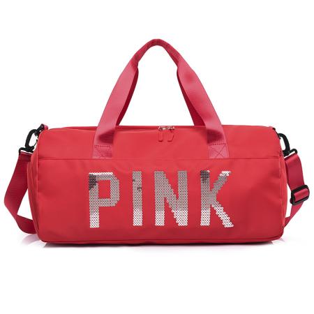 Red Casual Sportswear Hot Drilling Split Joint Zipper Bags