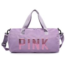 Purple Casual Sportswear Hot Drilling Split Joint Zipper Bags