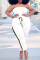 White Casual Solid Split Joint Strapless Plus Size Jumpsuits