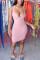 Pink Fashion Sexy Black Pink Orange rose red Tank Sleeveless V Neck Pencil Dress Knee-Length Solid Dresses