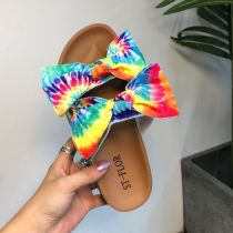 Blue Fashion Casual Hollowed Out With Bow Comfortable Slippers