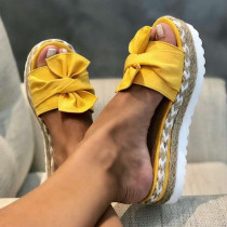 Yellow Fashion Casual Split Joint Comfortable Shoes