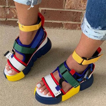Colour Fashion Casual Hollowed Out Split Joint Round Out Door Sandals