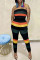 Black Fashion Sexy Striped Print Backless Strapless Regular Jumpsuits