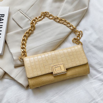 Yellow Fashion Casual Solid Chains Bags