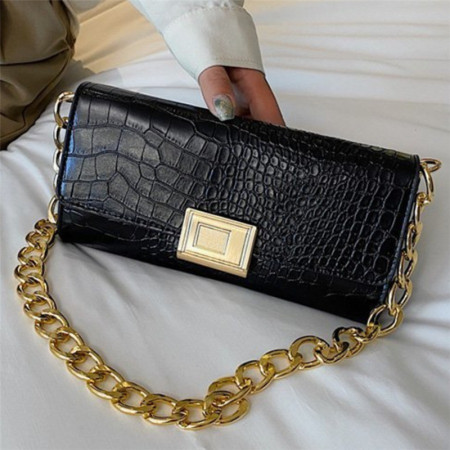 Black Fashion Casual Solid Chains Bags