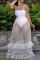 White Sexy Solid Flounce Mesh Swimwears
