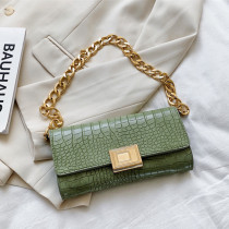Green Fashion Casual Solid Chains Bags