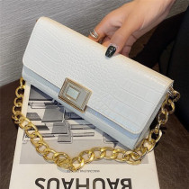 White Fashion Casual Solid Chains Bags