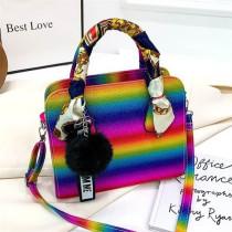 Colour Fashion Casual Gradual Change Hand Messenger Bag