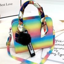 Pink Fashion Casual Gradual Change Hand Messenger Bag