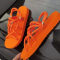 Orange Casual Street Hollowed Out Split Joint Opend Out Door Shoes