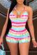 Colour Sexy Patchwork Tie-dye Halter Skinny Swimwears