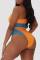 Orange Fashion Sexy Patchwork Backless Swimwears