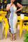 Khaki Sexy Print Split Joint Spaghetti Strap Pencil Skirt Dresses