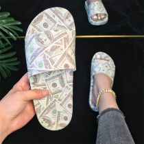 Green Casual Street Split Joint Printing Opend Out Door Shoes