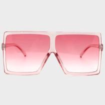 Pink Sexy Street Gradual Change Leopard Split Joint Sunglasses