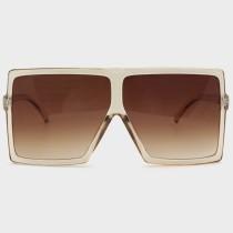 Yellow Sexy Street Gradual Change Leopard Split Joint Sunglasses