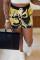 Yellow Fashion Casual Print Basic Regular High Waist Shorts