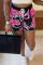 Purple Fashion Casual Print Basic Regular High Waist Shorts